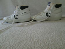 Vintage 80s Converse High Tops Size 9 Shoes Sneakers White Black
