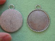 5 FOTO CORNICE QUADRO CIONDOLO impostazione BIANCHI tibetano in argento tono antico