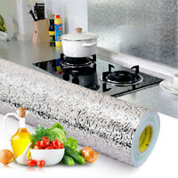 Kitchen Wall Stickers 40*100cm Paper Oil-proof Waterproof Aluminum Foil Sticker