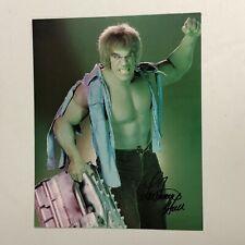 Lou Ferrigno Hand Signed 8x10 Photo Incredible Hulk