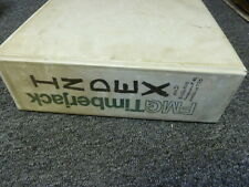 Timberjack Equipment Index & Shop Service Repair Technical Bulletin Manual Book