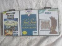Populous, Sega Chess & Trivial Pursuit / CIB Bundle / Sega Master System / SMS