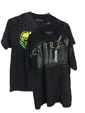 Metal Mulisha Men's Case Short Sleeve Black T Shirt Size XL Lot Of 2 New