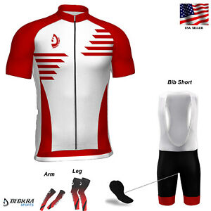 Mens Cycling Jersey MTB Team Racing Short Sleeves Shirt Biking Bicycle Bib Short