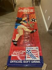 Coca Cola 1994 USA World Cup Vertical Vinyl Banner- 10 Feet x 3 Feet.
