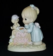 Rv Haven Fun Or What? Precious Moments Girl Park Sign 587915 Enesco figure 1999