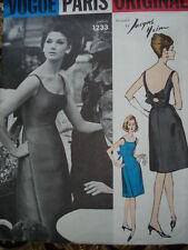 Vintage 60's VOGUE PARIS ORIGINAl 1233 HEIM Evening Prom Dress Sewing Pattern 34