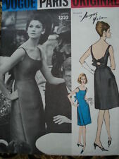 Vintage 60'S VOGUE PARIS ORIGINAL 1233 HEIM Evening Dress Sewing Pattern B34