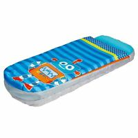 BOYS JUNIOR ROBOT READYBED CHILDRENS KIDS SLEEPOVER AIR BED, PUMP INCLUDED