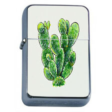 Cactus and Succulents Plants D2 Flip Top Dual Torch Lighter Wind Resistant