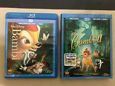 Disney: Bambi 1 + 2 (Blu-ray/DVD) AUTHENTIC US RELEASE- OOP GREAT CHILDREN