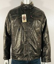 27179b96a Faux Leather Band Military Coats & Jackets for Men for sale   eBay