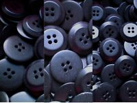Dark Navy Blue 23mm 20mm 15mm 4 Hole Satin Finish Buttons Craft Sewing (Z6-Z8)