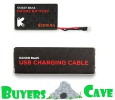 Kaiser Baas Alpha Drone 550MAH Battery & USB Charger BRAND NEW