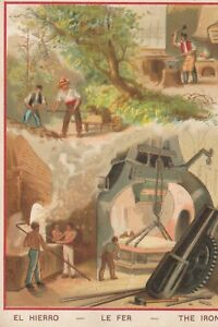 ancien chromo el hierro - le fer - the iron