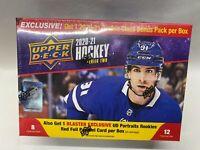 2020-21 Upper Deck NHL Series 2 MEGA BOX Portraits Rookie Foil SEALED BOX