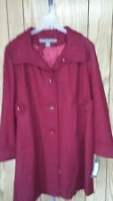 KENNETH COLE WOMENS COAT -SIZE -XXL-TRUE RED -60% WOOL / 30% POLYESTER/10% RAYON