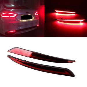 FOR FORD FUSION MONDEO 2013-2015 RED LED REFLECTOR REAR TAIL LIGHT FOG LAMP NEW