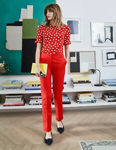 Boden Post Box Red Richmond trousers UK 20R rrp £75