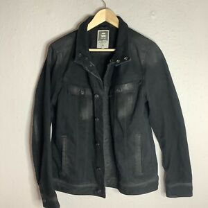 G-STAR Raw Smart Casual Mens Denim Jacket Black Size Large