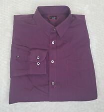 Untuckit XXL Marcasin Wrinkle Free Burgundy Long Sleeved Button Up Shirt