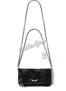 One-shoulder messenger bag cowhide star decoration chain bag Zadig & Voltaire