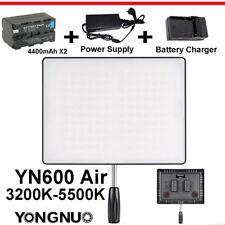 Yongnuo YN600 Air 3200-5500K LED Flash Light +  4400mAh Battery + AC Adapter