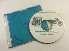 KAWASAKI KH250 KH400 S1 S2 S2A S3 250 350 400 Parts List Workshop Manual CD