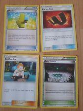 4 x Pokemon trainer Cards Max Elixer, Karate Belt, Sophocles & Fairy Gardens