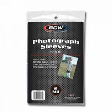 """(1000 Ct) BCW 4"""" x 6"""" Photograph Sleeves Card Postcard 4x6 Large Size (10 Packs)"""