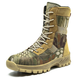 Men's Army Tactical Comfy Combat Military Outdoor Ankle Boots Work Desert Shoes