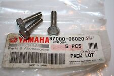 3 NOS Yamaha motorcycle snowmobile bolts 97080-06020 6 x 20mm