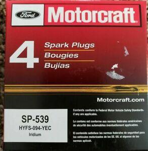 4 plugs GENUINE Motorcraft SP-539 Spark Plug Iridium HYFS-094-YEC Fusion Escape