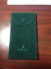 Genuine Rolex Green Service Travel Watch Pouch Case New