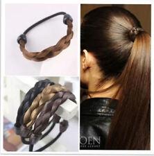 2pcs femmes /élastique de cheveux Perruque Tresse Boucl/ée Bandeau de t/ête de bijoux accessoires Noir