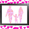 FAMILY WORD ART CLOUD THE PERFECT GIFT TO SHOW LOVE ON MOTHERS DAY MUM MUMMY