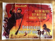 Draußen wartet der Tod (A0-Kinoplakat '56) - Victor Mature / Guy Madison