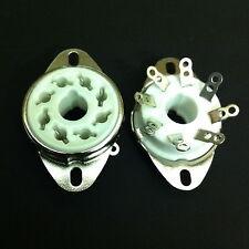 8 pin octal fixe châssis montage split trou céramique skt. pour KT88, 6550, etc.