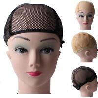 Nylon Hair Wig Weaving Cap Snood Net Stretch Mesh Liner Elastic w.Ear Wings