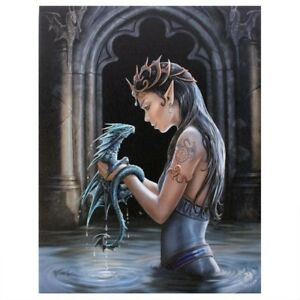 BABY WATER DRAGON ANNE STOKES CANVAS PICTURE ART PRINT GOTHIC FANTASY MYSTICAL