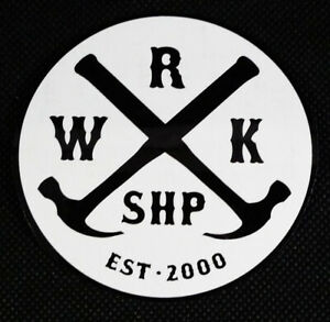 Willy's Workshop Round Skateboarding Logo Sticker