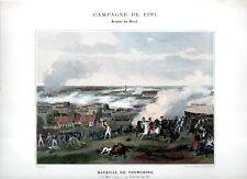 Stampa antica RIVOLUZIONE FRANCESE 1794 BATTAGLIA DI TOURCOING 1890 Old print