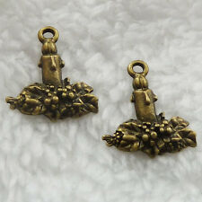 Free Ship 140 pcs bronze plated candle charms 20x16mm #280