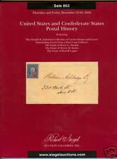 Siegel, Sale 853, US Confederate Postal History, 2005
