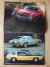 CHEVROLET Camaro original 1976 Sales Brochure - Sport Coupe RS & LT
