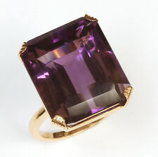 14k Amethyst Ring - 37 carats in weight!