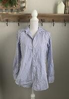 Frank & Eileen Button Down Shirt Plaid Size Small Blue White Grayson