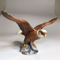 "Beautiful Beswick Bald Eagle Porcelain Figurine 11"" Wingspan Made In England"