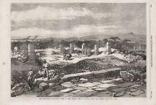 OLD 1868 PRINT THE ABYSSINIAN EXPEDITION RUINS OF THE ANCIENT CITY OF ADULIS b73