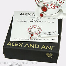 Authentic Alex and Ani July Shiny Silver Birth Month Ring